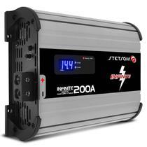 Fonte Automotiva Stetsom Infinite 200A Amperes 12V 220V Carregador Digital Voltímetro Display LED -