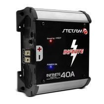 Fonte Automotiva Stetsom Infinite 40A 3000W RMS Bivolt Carregador Digital Sistema ABS -