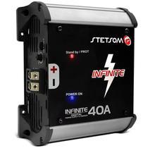 Fonte Automotiva Stetsom Infinite 40A Amperes 1000W RMS Bivolt Carregador Digital Bateria -