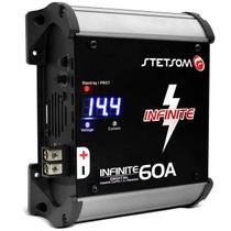 Fonte Automotiva Stetsom Infinite 60A 3000W RMS Bivolt Carregador Digital com Voltímetro LED