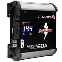 Fonte Automotiva Stetsom Infinite 60A Amperes 3000W RMS Bivolt Carregador Digital com Voltímetro LED -