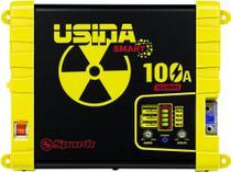 Fonte Automotiva Usina 100a Smart Bivolt Com Voltimetro -
