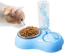 Fonte Bebedouro Comedouro Ração Automático Pet Cachorro Gato Cães 500ml Azul - Pets