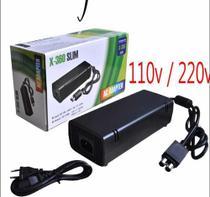 Fonte + Cabo Bivolt Vídeo Game Xbox 360 Slim 2 Pinos X Box - Universal