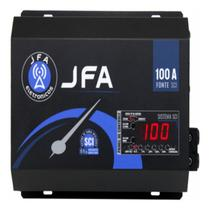 Fonte Carregador Automotiva JFA 100A  C/Carga Inteligente -