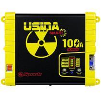 Fonte Carregador Automotiva Usina 100A Battery Meter -