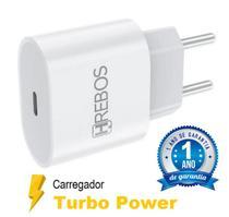 Fonte Carregador Turbo 20W Tipo-C Para iPhone 11-12 Pro Max / X-XS-XR-XS Max - HRebos