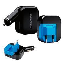 Fonte Carregador Universal Mais Mania Dual USB Carro e Casa -
