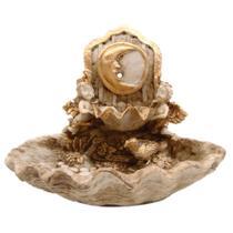 Fonte Cascata De Água Lua Com Anjos Decorativa Em Resina - Shop Everest