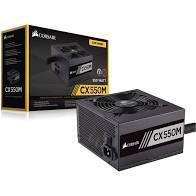 Fonte Corsair 550W 80 Plus Bronze Semi Modular CX550M - CP-9020102 -