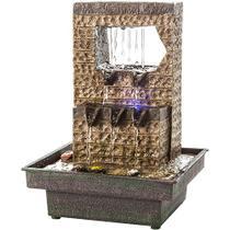 Fonte de Água Decorativa Waterdrop com Iluminação - Bivolt - Relaxmedic