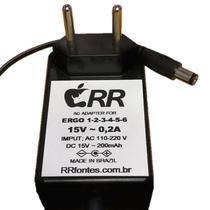 Fonte de alimentação 15V para aspirador de pó Eletrolux modelo Ergo 2 - Rrfontes