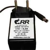 Fonte de alimentação 17V para aspirador de pó Eletrolux modelo Ergo 12 - Rrfontes