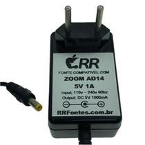 Fonte de alimentação 5V para gravador Zoom AD-14 modelo H4n - Rrfontes
