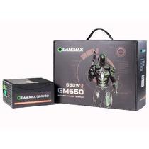 Fonte de Alimentação Gamemax GM650 650W Box 80 Plus Bronze Com PFC - Preto -
