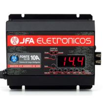 Fonte Digital Slim Jfa 10a Sci Bivolt Voltímetro- C/ Display