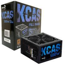 Fonte Gamer Aerocool KCAS 500W 80 Plus Bronze Full Range PFC Ativo -