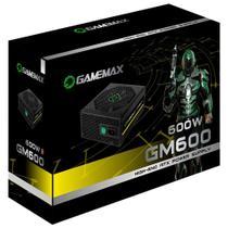 Fonte Gamer ATX Gamemax GM600 600W Semi-Modular 80 Plus Bronze PFC Ativo Preta -
