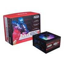 Fonte Gamer AZZA 650W RGB 80 PLUS Bronze PFC ATIVO, PSAZ-650W-ARGB -