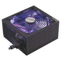 Fonte Gamer K-Mex PT600TW 600W Cooler com cabo auto switch