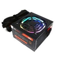 Fonte Gamer RGB Ktrok 500w Real Pfc Ativo 80 Plus Bronze -