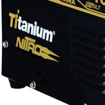 Fonte inversora nitro ti 180 mma 140 amperes bivolt  titanium -