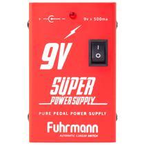 Fonte Para Pedais Fuhrmann Power Supply 9V P4 500MA FT500A -