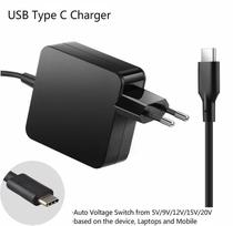 Fonte Universal Usb C Laptop Ac Power Adapter Para Dell Xps12 9250 -