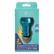 Fonte Veicular 2 saída USB - Inova