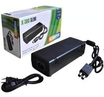 Fonte Xbox 360 Slim Bivolt 110v 220v 135w Cabo De Força 2p - Import