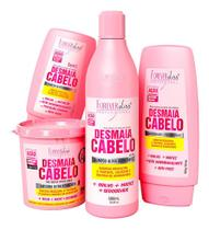 Forever Kit Desmaia Cabelo Máscara 350g Shampoo Cond Leav - Forever Liss