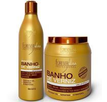 Forever Liss Banho De Verniz  Shampoo + Máscara 1000g -