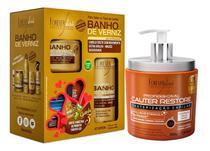 Forever Liss Cauter Restore + Kit Especial Banho De Verniz -