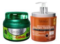 Forever Liss Cauter Restore + Máscara Cresce Cabelo 250g -