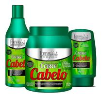Forever Liss Cresce Cabelo Shampoo + Máscara 1kg + Leave-in -