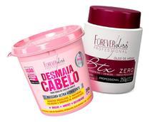 Forever Liss Desmaia Cabelo 350g + Botox Argan 250g -