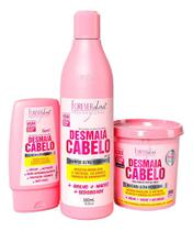 Forever Liss Desmaia Cabelo Shampoo+ Leave-in+ Máscara 350g -