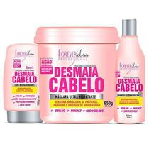 Forever Liss Desmaia Cabelo Shampoo + Leave-in + Máscara 950g -