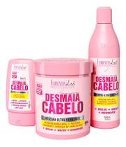 Forever Liss Desmaia Cabelo Shampoo + Leavein + Máscara 950g -