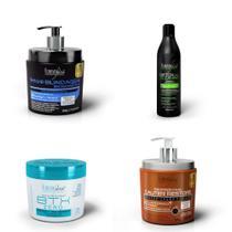 Forever Liss Kit Cauter Restore 500g+ Blindagem Biomimética 500g+ Btx Zero 250g+ Shampoo Detox 500ml - Forever Liss Professional