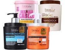 Forever Liss Kit Cauterização+blindagem Bio+mandioca+desmaia - Forever Liss Professional