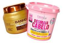Forever Liss - Kit Desmaia Cabelo 350g + Banho De Verniz 250g -
