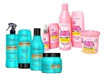 Forever Liss Kit Desmaia Cabelo C/  Masc 350g + Kit Cachos -