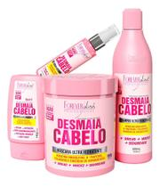 Forever Liss Kit Desmaia Cabelo Shampoo + Leave-in + Sérum + Máscara 950g -