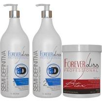 Forever Liss - Kit Escova Semi Definitiva Power 3D + Creme Alisante 1kg -