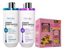 Forever Liss Progressiva 3d 2x1000ml + Kit Especial Desmaia Cabelo -