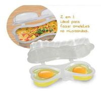 Forma 2 Ovos Para Microondas Egg Fácil Omelete Cozido Mexido - Injetemp