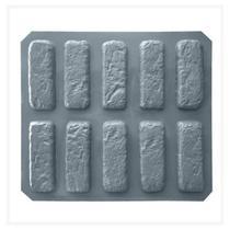Forma ABS 1.5 mm Gesso/Cimento - Tijolinho - 10 modelos 17 x 6 cm - Mil Faces