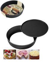 Forma assadeira redonda black para bolo e torta fundo removível 30cm ø - Fortaleza