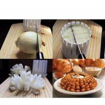 Forma Cortar Cebola Flor Fatiador Vegetais Frutas Onion Blossom Maker - Cortador